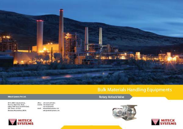 Miteck systems Pvt  Ltd Miteck Brochure-Rotary airlock valve