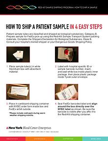 Redi-Kit Sample Shipping: How to Ship a Sample