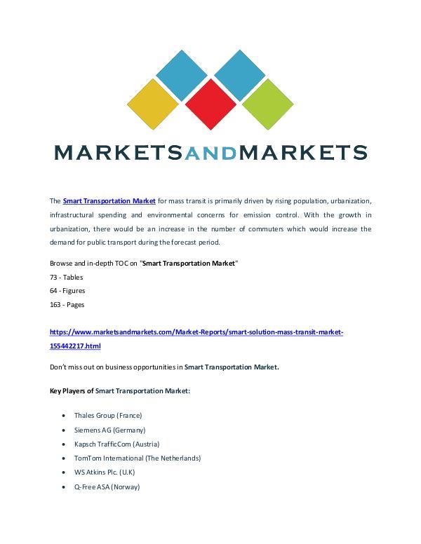 Smart Transportation Market