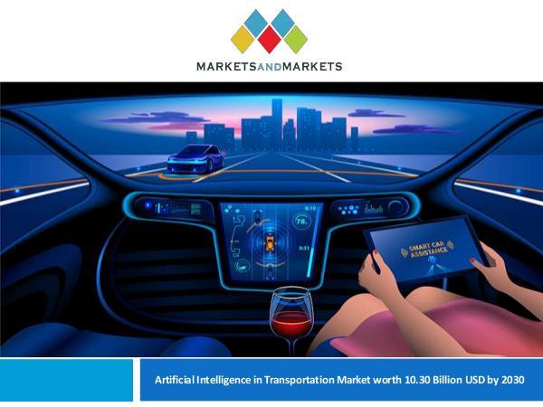 Automotive Market Revenue, Trends, Growth, Technologies, CAGR Artificial Intelligence in Transportation Market