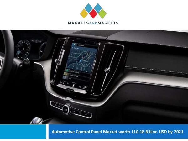 Automotive Control Panel Market