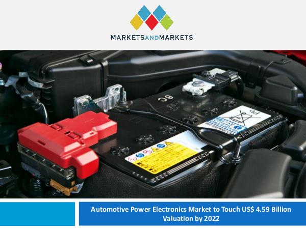 Automotive Power Electronics Market