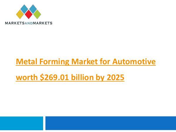 Metal Forming Market