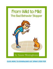Cat Spray Stop PDF, Reviews and Book Download