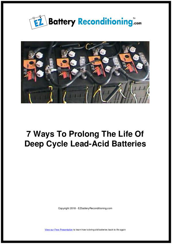 EZ Battery Reconditioning PDF Download, Course, Book Reviews EZ Battery Reconditioning PDF, Prolong a Battery