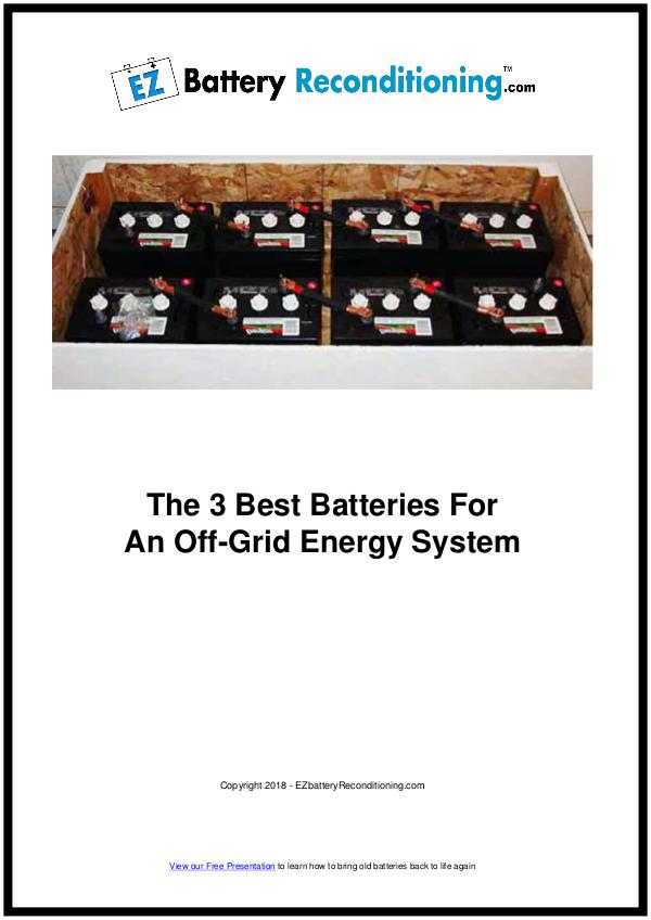 EZ Battery Reconditioning PDF Download, Course, Book Reviews EZ Battery Reconditioning PDF, Off-Grid System