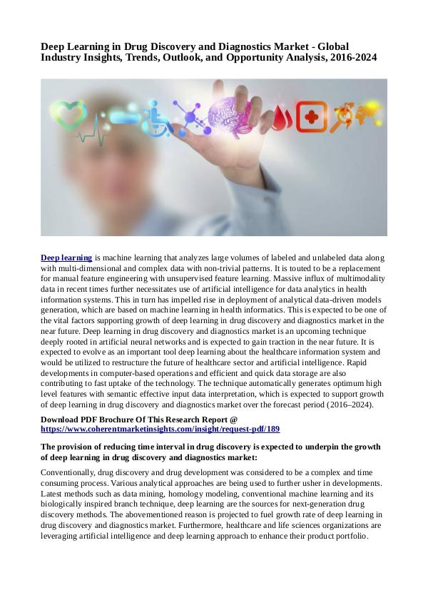 Healtcare Deep Learning in Drug Discovery and Diagnostics Ma