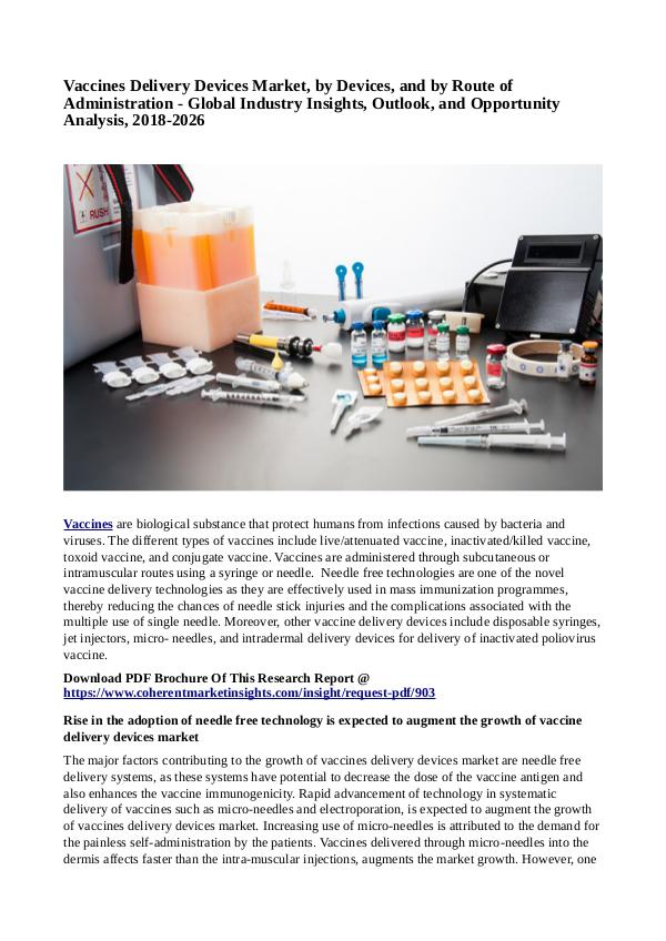 Healtcare Vaccines Delivery Devices Market