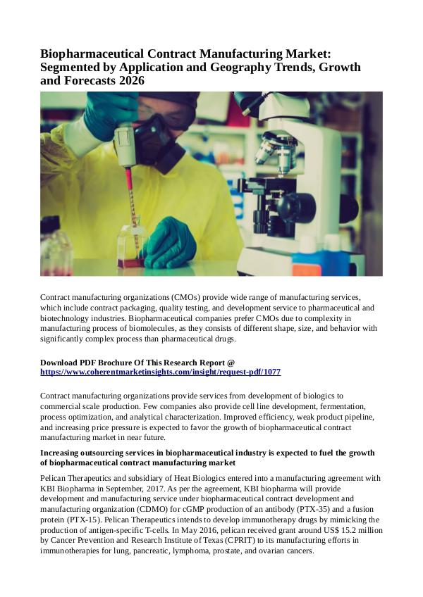 Healtcare Biopharmaceutical Contract Manufacturing Market