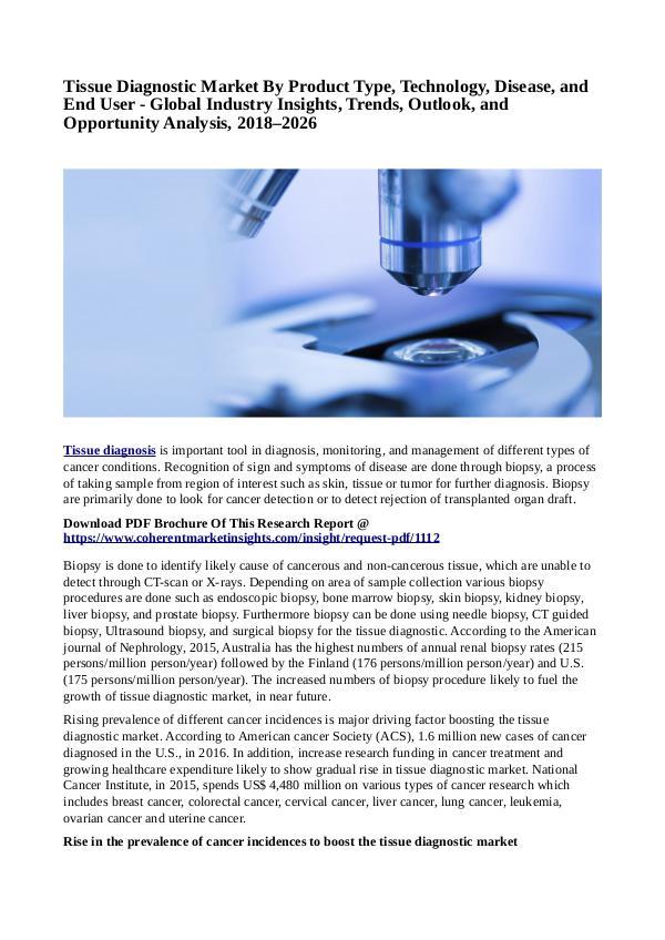 Healtcare Tissue Diagnostic Market