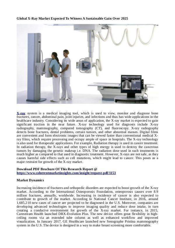 Healtcare Global X-Ray Market