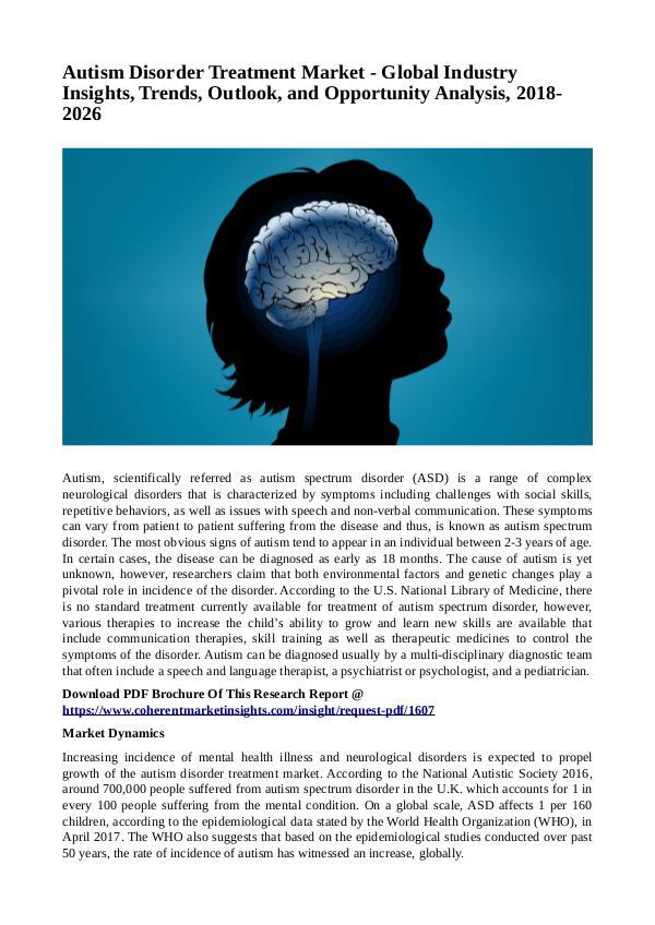 Healtcare Autism Disorder Treatment Market1