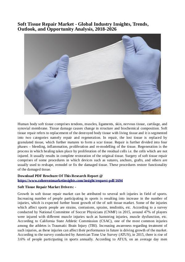 Healtcare Soft Tissue Repair Market