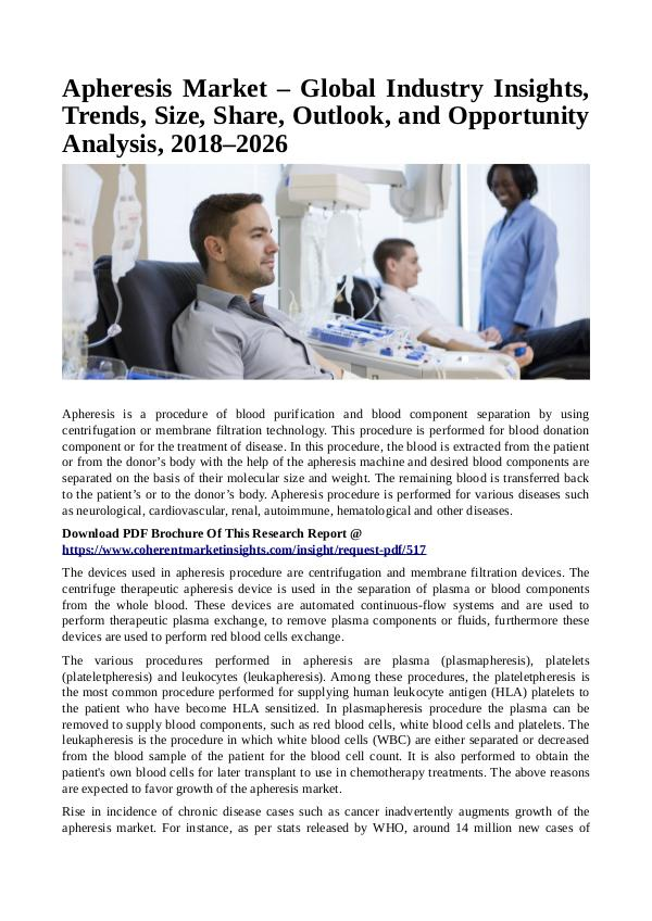 Healtcare Apheresis Market