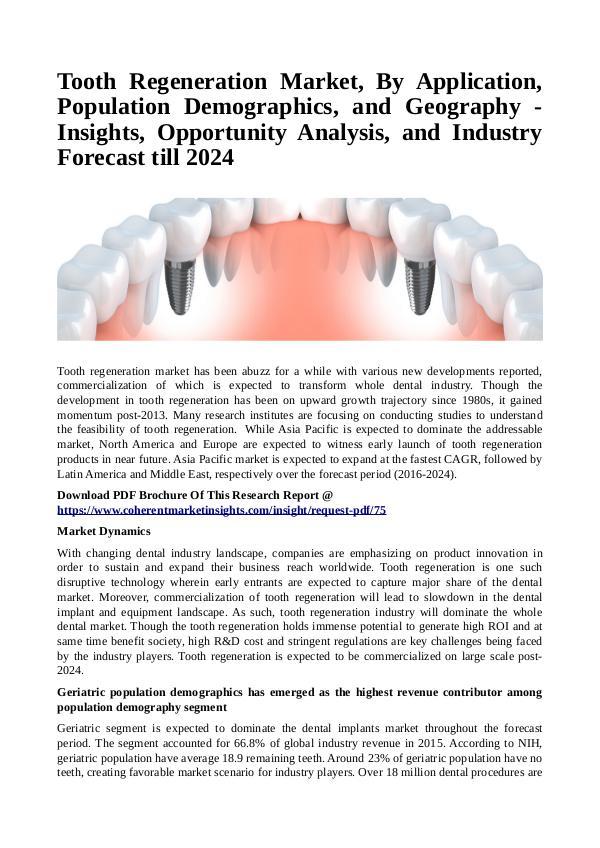 Healtcare Tooth Regeneration Market