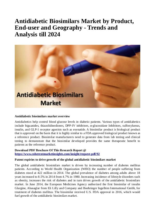 Antidiabetic Biosimilars Market