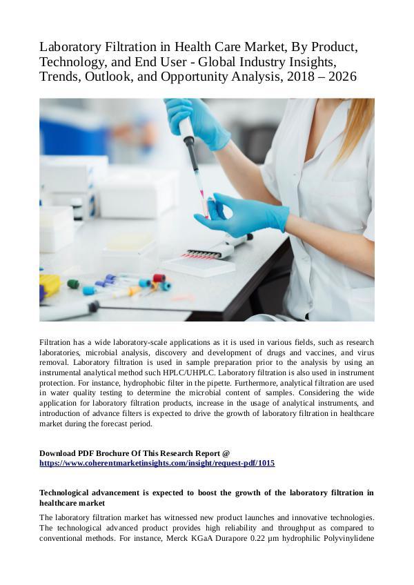 Healtcare Laboratory Filtration in Health Care Market