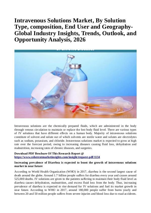 Healtcare Intravenous Solutions Market