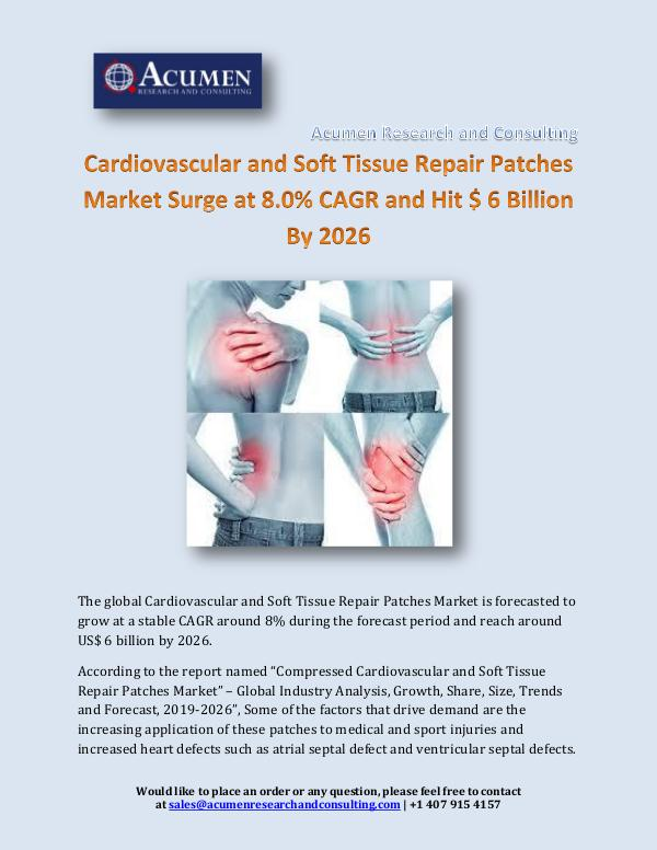 Cardiovascular and Soft Tissue Repair Patches Mark