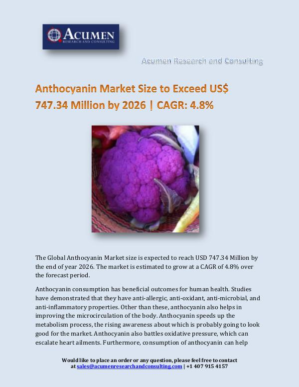Acumen Research and Consulting Anthocyanin Market