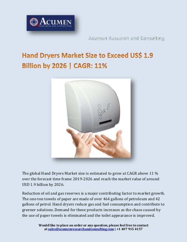 Hand Dryers Market