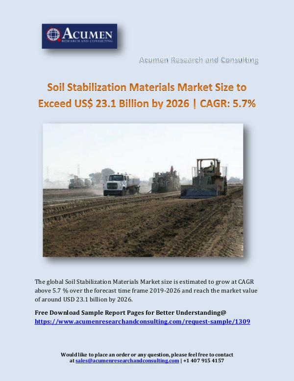 Acumen Research and Consulting Soil Stabilization Materials Market