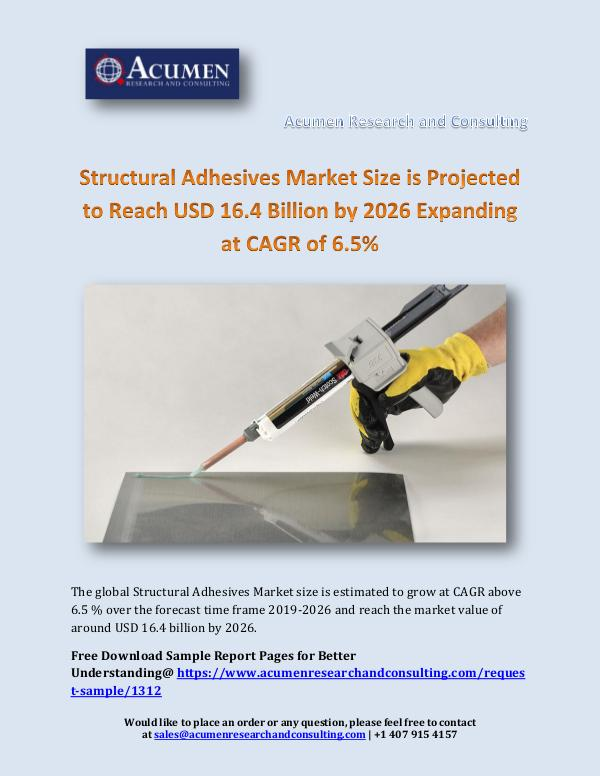 Structural Adhesives Market Size is Projected to R