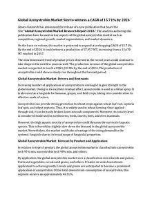 Global Azoxystrobin Market Size to witness a CAGR of 15.71% by 2024