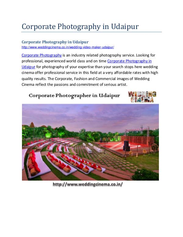 Corporate Photography in Udaipur Corporate Photography in Udaipur