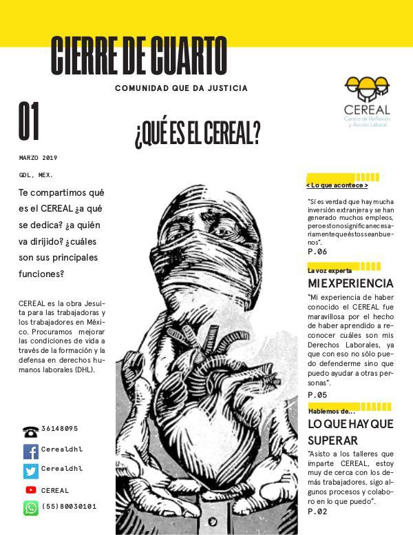 CIERRE DE CUARTO 1era edición ¿Qué es el CEREAL?