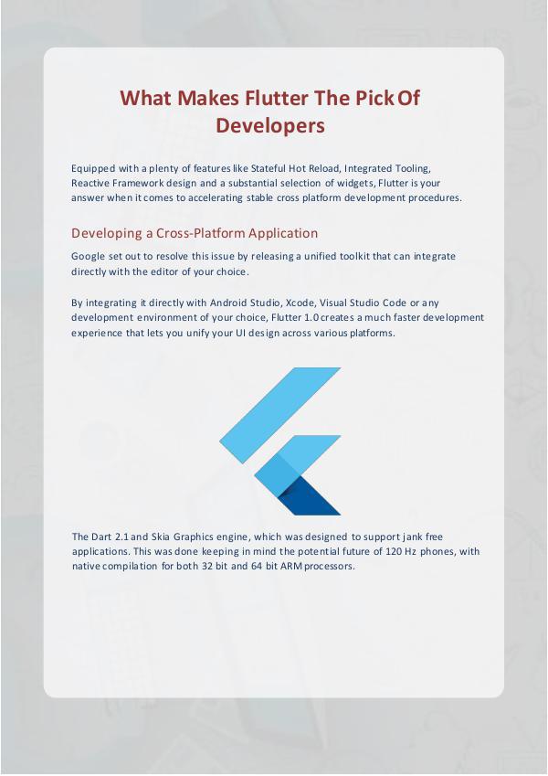 Flutter App Development What makes the Flutter the pick