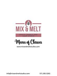 Mix and Melt Studios Partner Menu