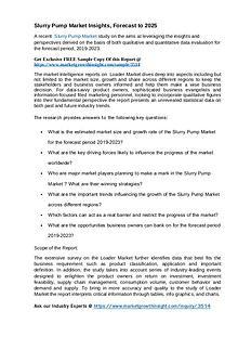 Slurry Pump Market Insights, Forecast to 2025