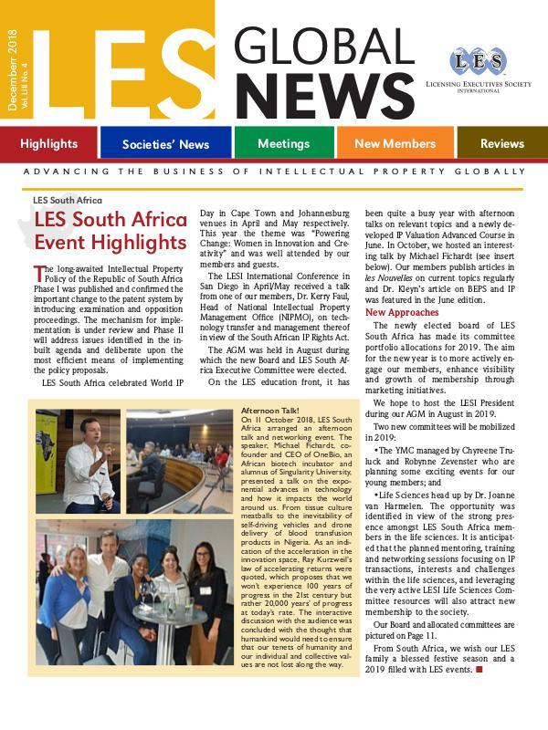 LES Global News - December 2018