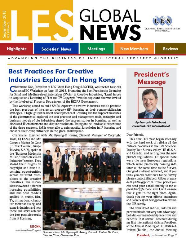 LES Global News September 2018 Preview