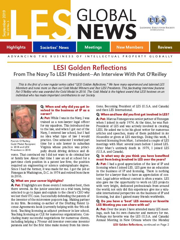 LES Global News - Free Issues September 2019