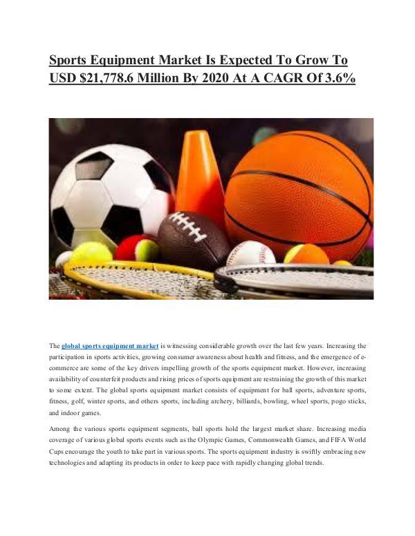 Sports Equipments Market