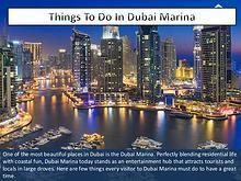 25 Things To Do Around Dubai Marina