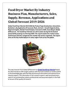 Global Food Dryer Market 2019-2026