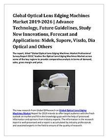 Global Optical Lens Edging Machines Market 2019-2026