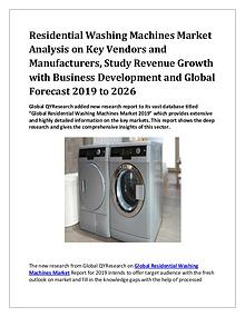 Global Residential Washing Machines Market 2019-2026