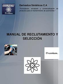 Manual de reclutamiento y selección