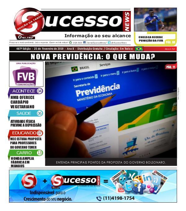 Jornal Sucesso News Jornal Sucesso News - Edição - 487 ONLINE