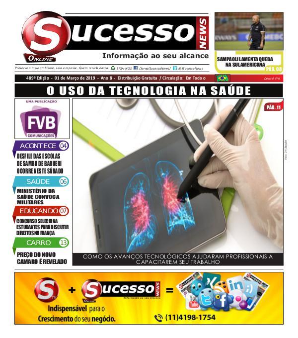 Jornal Sucesso News Jornal Sucesso News - Edição - 489 ONLINE