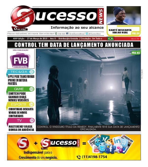 Jornal Sucesso News Jornal Sucesso News - Edição - 499 ONLINE