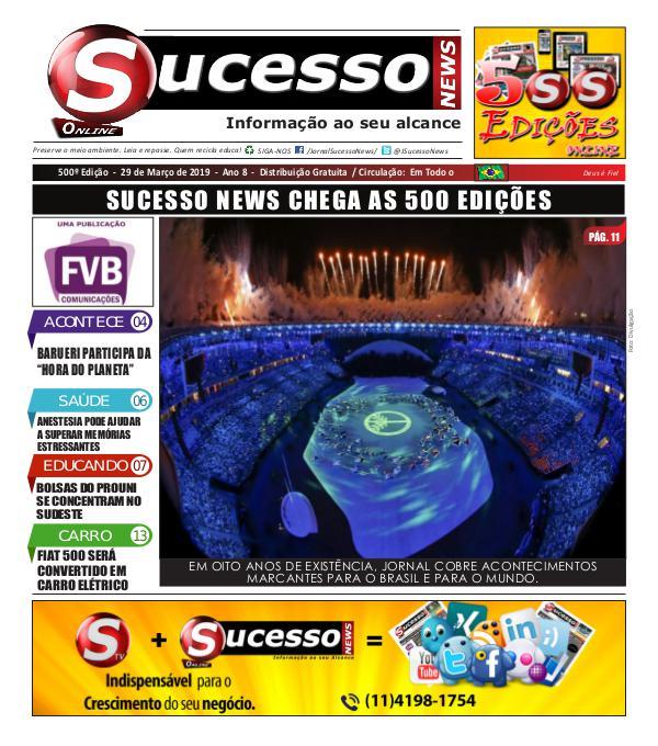 Jornal Sucesso News Jornal Sucesso News - Edição - 500 ONLINE
