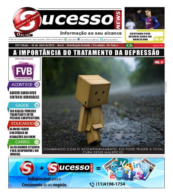 Jornal Sucesso News Jornal Sucesso News - Edição - 501 ONLINE
