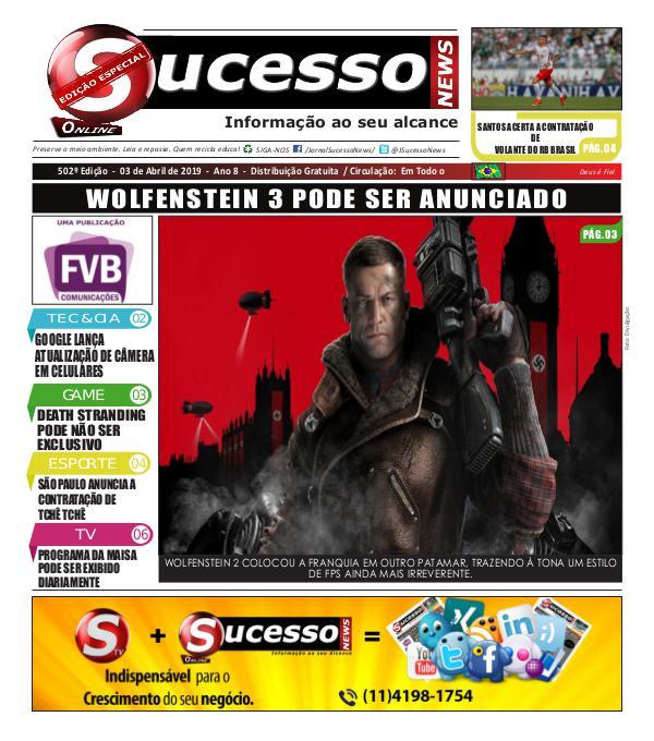 Jornal Sucesso News Jornal Sucesso News - Edição - 502 ONLINE
