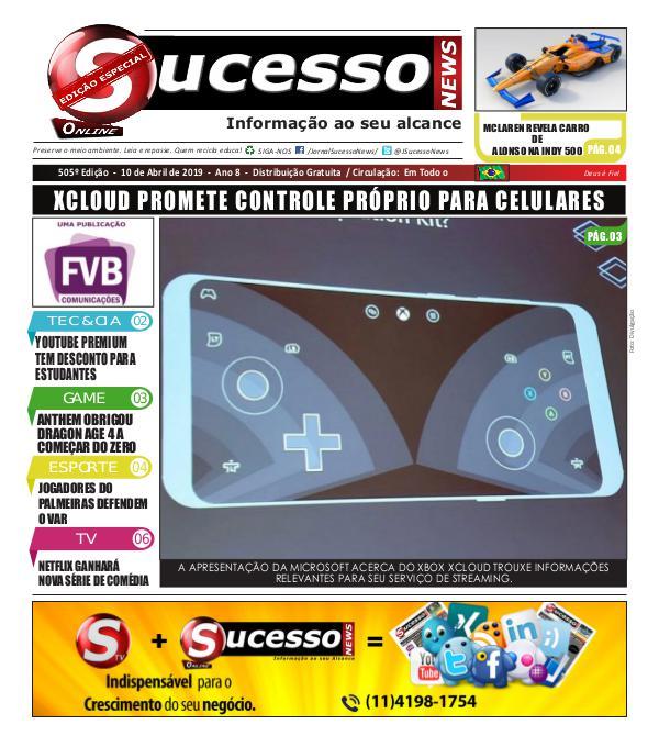 Jornal Sucesso News Jornal Sucesso News - Edição - 505 ONLINE
