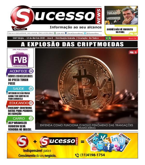 Jornal Sucesso News Jornal Sucesso News - Edição - 506 ONLINE